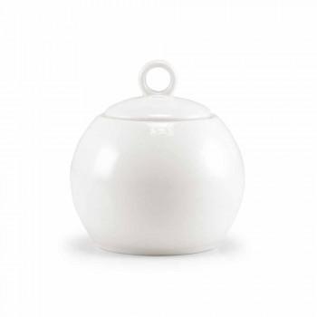 Zestaw 18 filiżanek herbaty z cukiernicą i tacą porcelanową - Lucerna