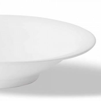 24 eleganckie talerze obiadowe w kolorze białej porcelany - Doriana
