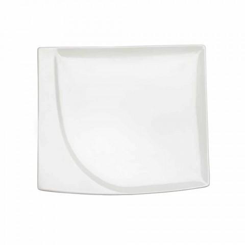 Aperitif Service 12 sztuk Nowoczesne białe porcelanowe talerze - Nalah