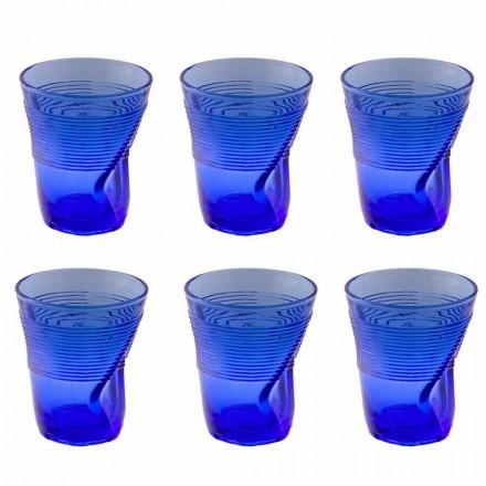 Kolorowe szklane szklanki wodne Serwis 12 sztuk Szczególna stylistyka - Sarabi
