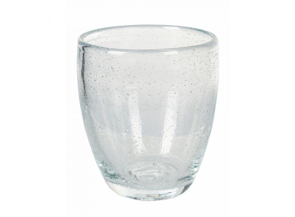 12 sztuk kolorowych szklanek do wody z dmuchanego szkła - Guerrero