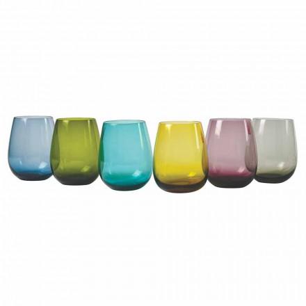 Zaprojektuj kolorowe szklane szklanki do wody, 12 sztuk - Aperi