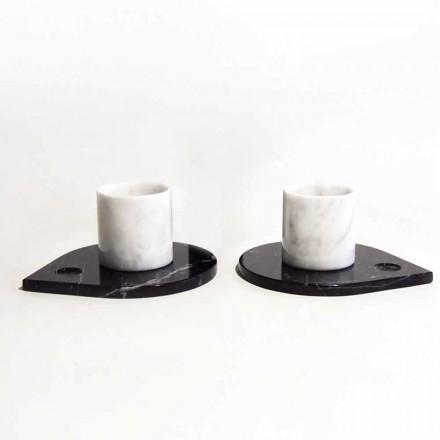 Serwis kawowy z marmuru z Carrary i nowoczesnej Marquinia Made in Italy - Garda
