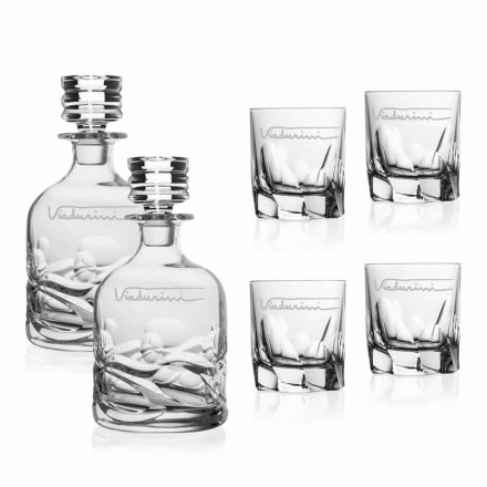 Ekologiczny serwis kryształowej whisky ze spersonalizowanym logo - tytan