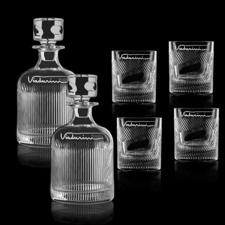 Ekologiczna usługa kryształowej whisky z logo, 6 sztuk - dotykowa
