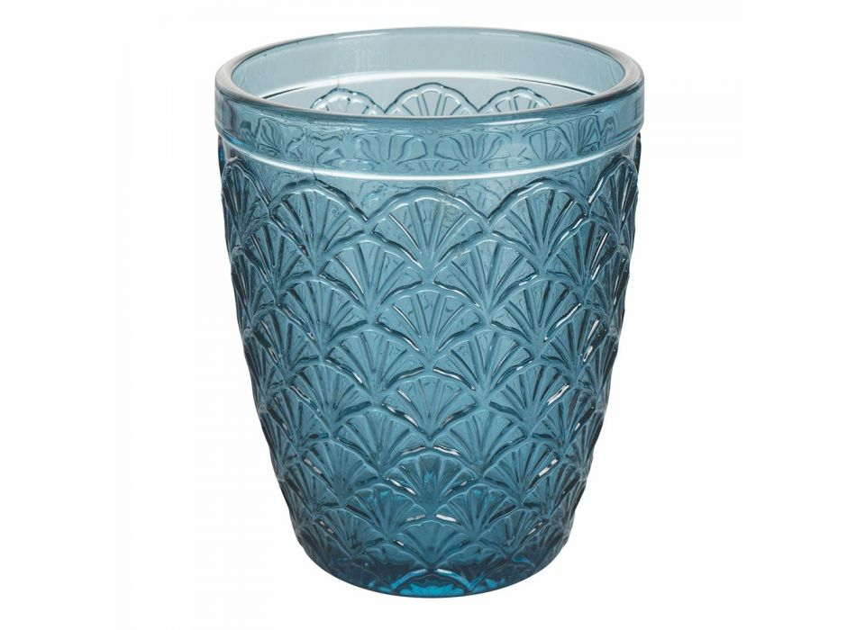 12-częściowy serwis kieliszków do wody ze szkła kolorowego - Artemisia