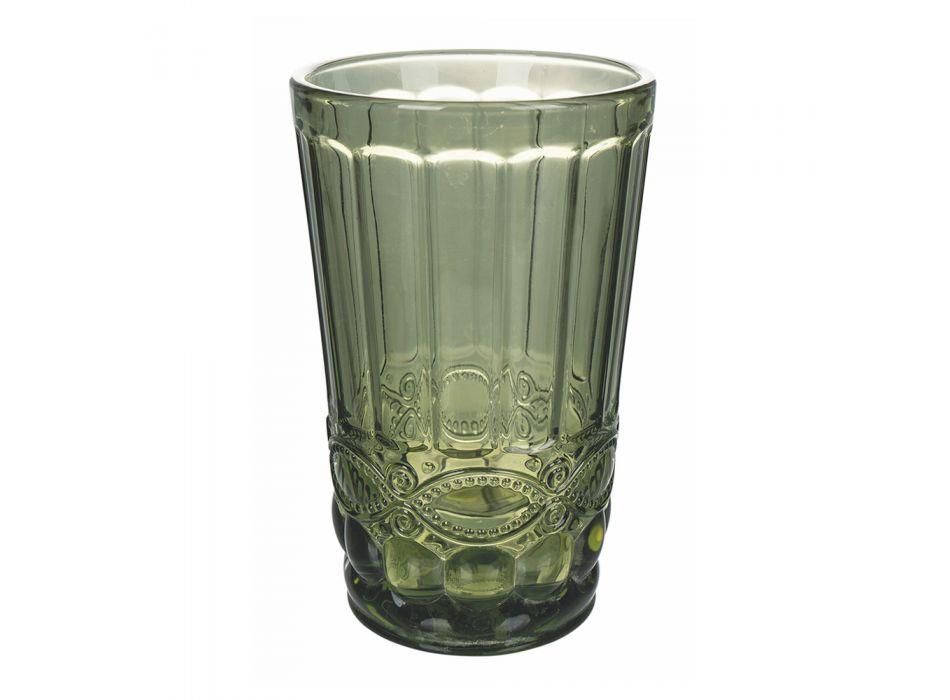 12-częściowy serwis z rzeźbionym szkłem - Artemisia