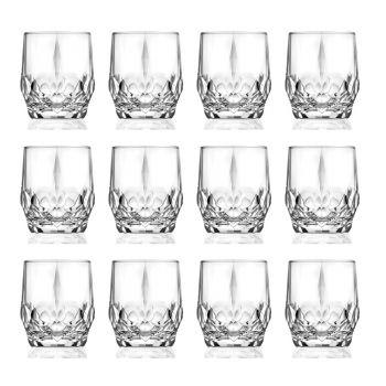 12-częściowy serwis ekologicznych kryształowych szklanek do whisky - Bromeo