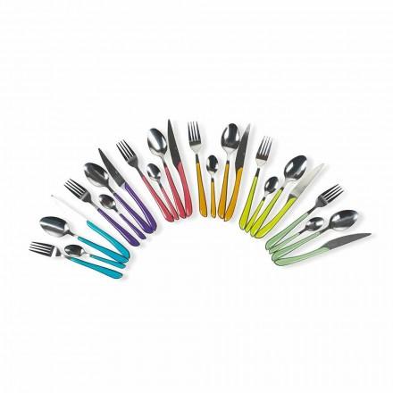 Serwis kolorowych sztućców 24 sztuki w konstrukcji stalowej i plastikowej - Algieria