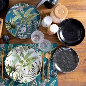 18-częściowa nowoczesna zastawa stołowa Kolorowa porcelana i kamionka Serwis - Antananarywa