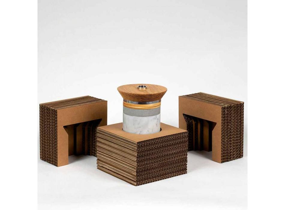 Akcesoria do koktajli i aperitifów z marmuru, drewna, stali - Norman