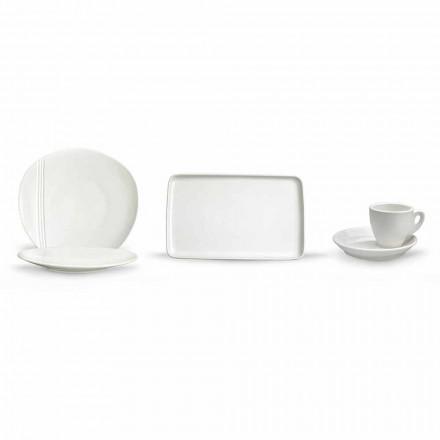 Zestaw nowoczesnych porcelanowych naczyń Aperitif 36 sztuk - Nalah