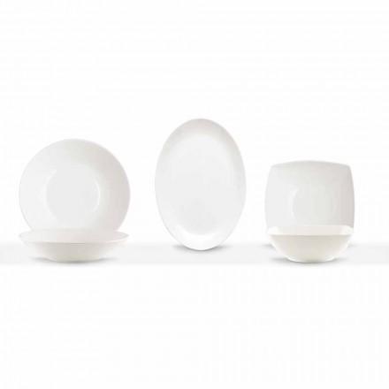 Naczynia do serwowania 3 sztuki Nowoczesny design w białej porcelanie - Malaga