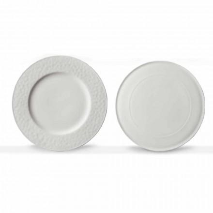 Gourmet Design Naczynia do serwowania z białej porcelany 2 sztuki - Flavia