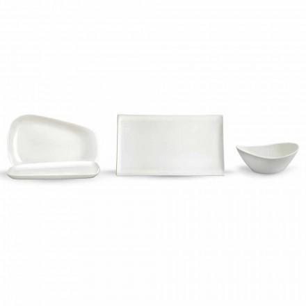 Talerze do serwowania obiadu lub nowoczesnej porcelany 14 sztuk - Nalah