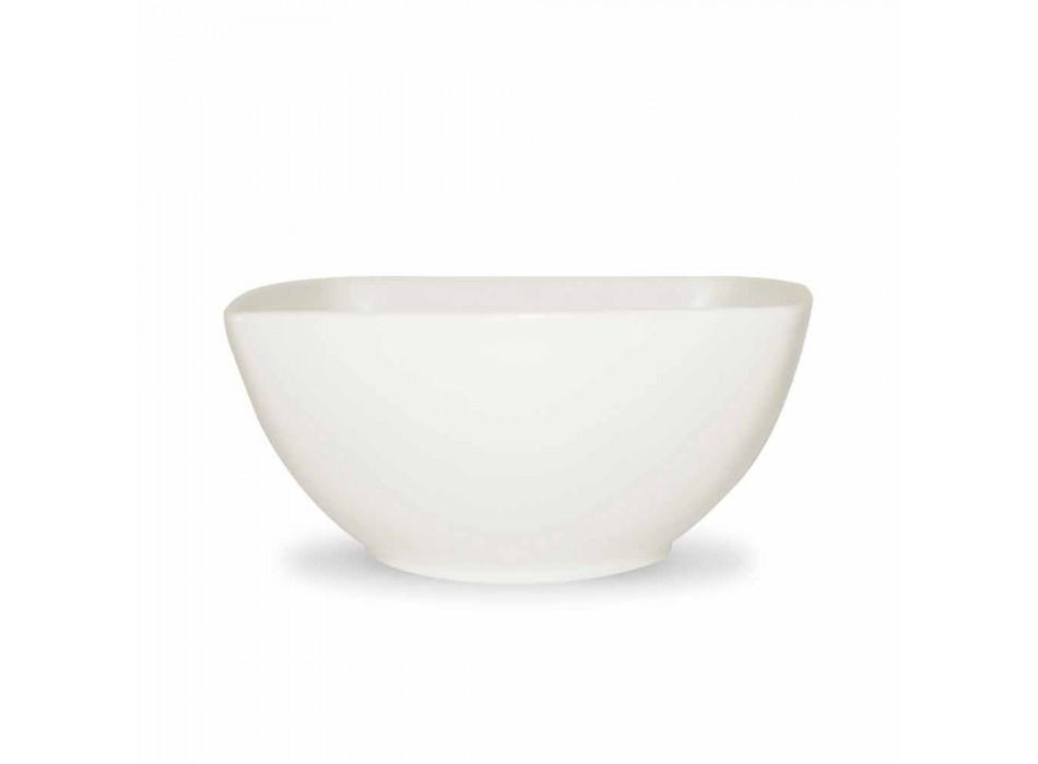 Biały serwis talerzy i nowoczesny design 26 sztuk - Usima