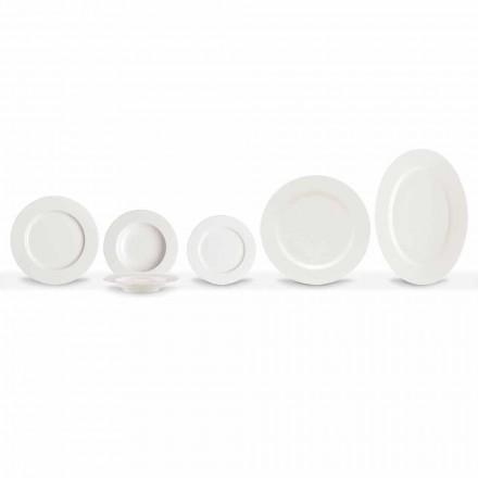 Elegancki i nowoczesny porcelanowy zestaw obiadowy 20 sztuk - Arendelle