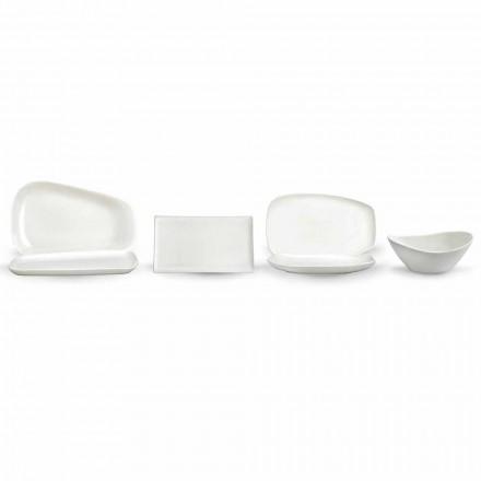 Kolacja z białej porcelany lub serwis serwowanych potraw - Nalah