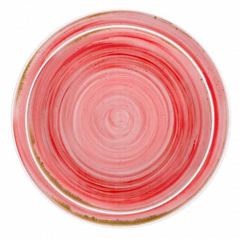 18-częściowy kolorowy porcelanowy serwis talerzy obiadowych - Rurolo