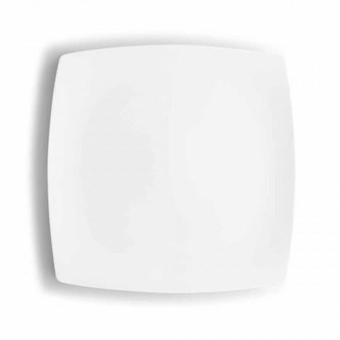 Białe porcelanowe filiżanki do kawy Serwis Nowoczesny design 8 sztuk - Duomo