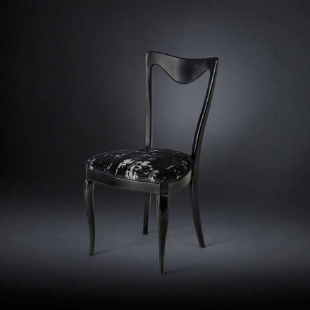 Zestaw 2 krzesła z lat 50, pokryte mieszanym aksamitem Frida
