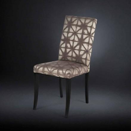 Zestaw 2 krzesła nowoczesne z czarnymi drewnianymi nogami Audrey