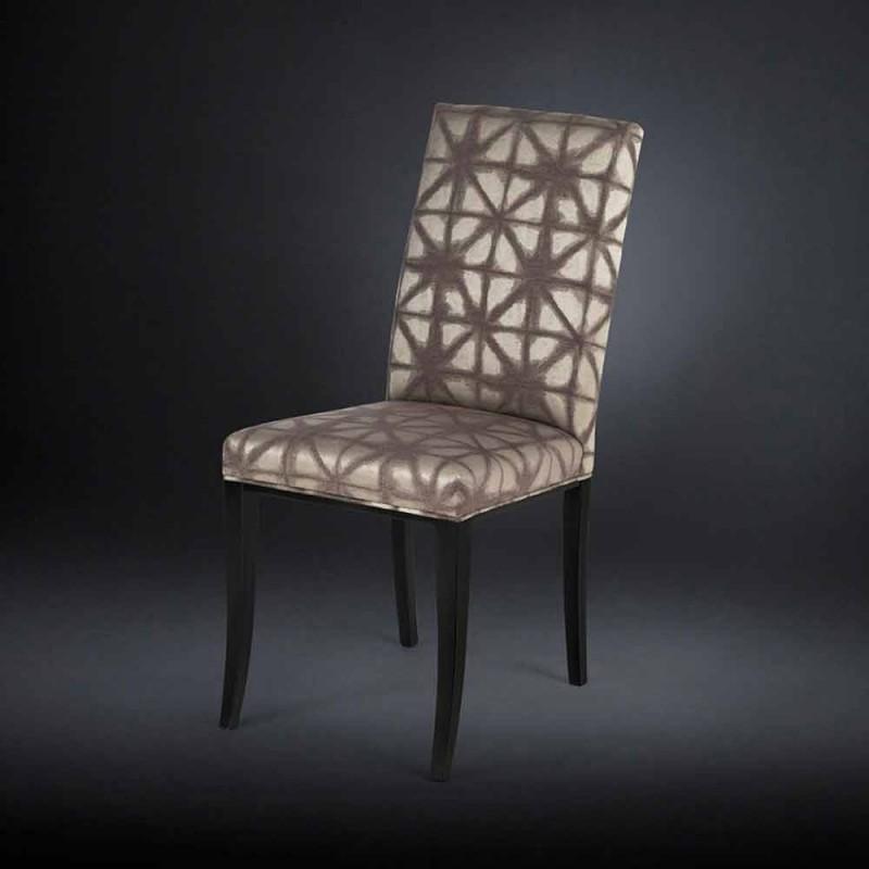 2 września tapicerowane nowoczesne krzesła z drewnianymi nogami w kolorze czarnym Audrey