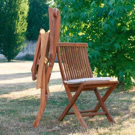 Krzesło składane z teak do ogrodu