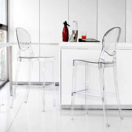 Krzesło hoker z poliwęglanu przezroczyste design model Bosa