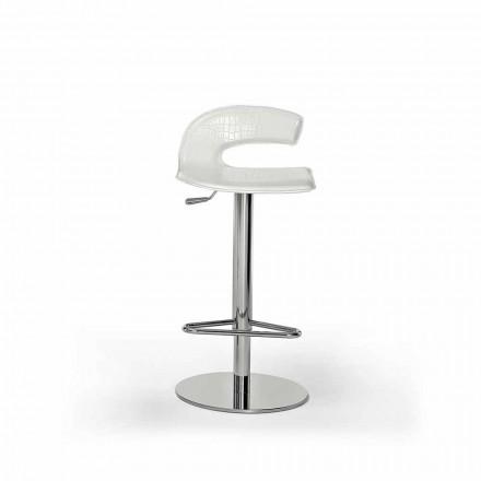 Designerski stołek z drewna, stali ze skórzaną lub skórzaną tapicerką - Turner