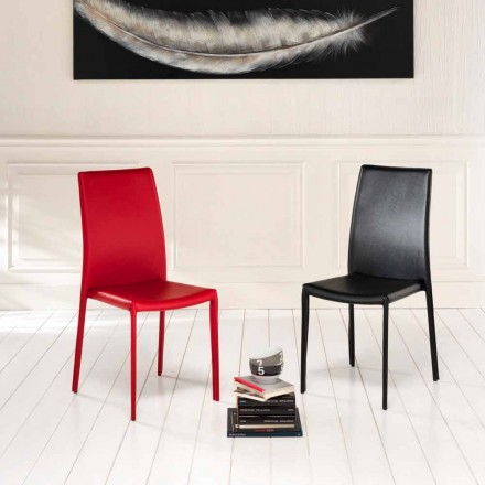 Set 4 krzesła obite sztuczną skórą, Gioia