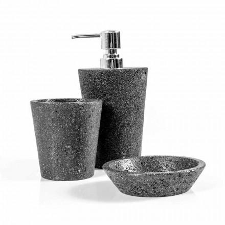 Zestaw akcesoriów łazienkowych Lava Stone Montiano