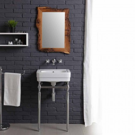 Meble łazienkowe z konstrukcją i lustrem model Creativity