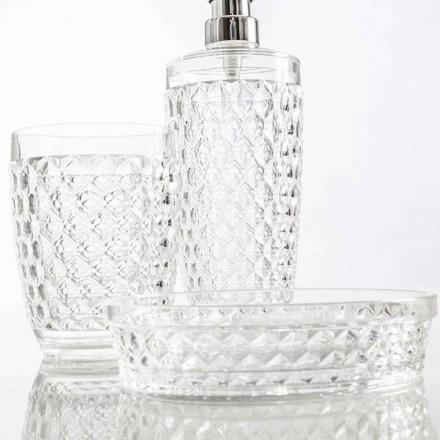 Zestaw do dozownika łazienkowego + szkło + nowoczesna mydelniczka Netro
