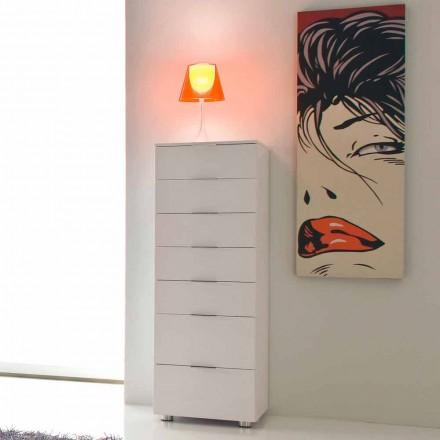 Komoda design w kolorze białym z połyskiem model Roberto