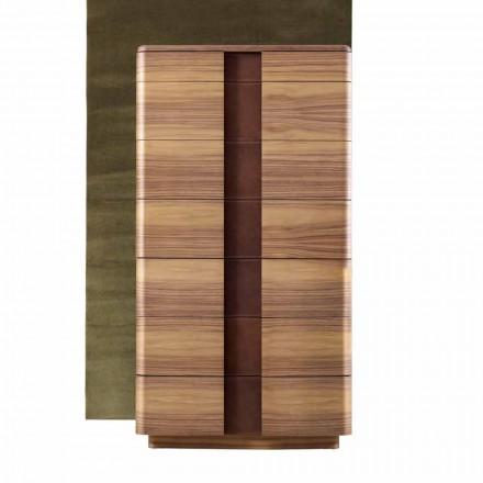 Komoda wysoka z litego drewna design Grilli York made in Italy