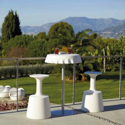 Taboret wysoki do ogrodu Slide Drink nowoczesny design, made in Italy