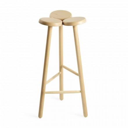 Wysoki stołek barowy lub blat kuchenny z jesionu Wyprodukowano we Włoszech - Lottie