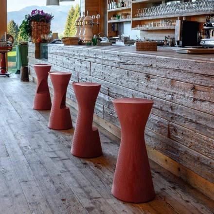 Wysoki stołek ogrodowy z kolorowego polietylenu Made in Italy - Desmond