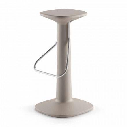 Wysokiej jakości stołek z polietylenu i stali nierdzewnej Made in Italy - Pito