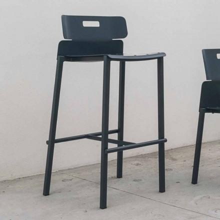 Wysokiej jakości stołek na zewnątrz z aluminium Made in Italy - Dobla