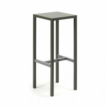 Zewnętrzny stołek barowy z metalu malowanego proszkowo Made in Italy - Meone