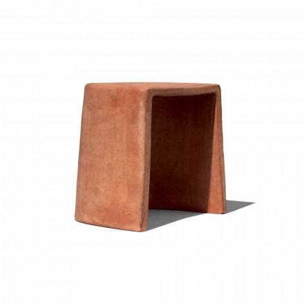 Niski stołek do ręcznie robionej terakoty na zewnątrz Made in Italy - Julio
