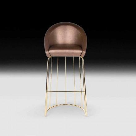 Nowoczesny stołek barowy 100% Made in Italy Dedo