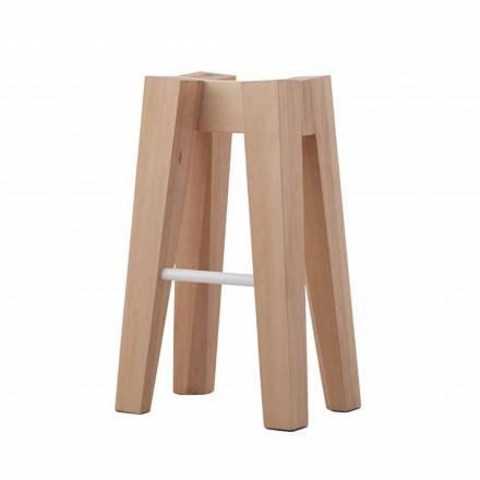 Stołek kuchenny z litego drewna bukowego o wysokiej lub niskiej konstrukcji - Cirico