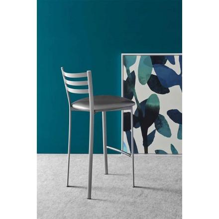 Nowoczesna metalowa lub tekstylna stołek kuchenny lub barowy Made in Italy - Ace