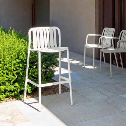 Talenti Trocadero nowoczesny stołek ogrodowy z możliwością układania w stosy, z aluminium