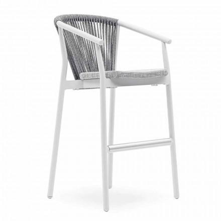 Stołek ogrodowy do ustawiania w stos aluminium i tkanina techniczna - Smart by Varaschin