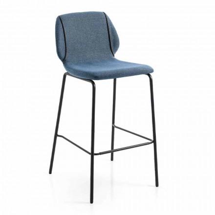 Nowoczesny design Elegancki stołek do salonu z tkaniny z obramowaniem - Scarat