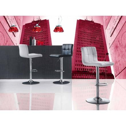 Stołek podnoszony o nowoczesnym designie, siedzisko z ekoskóry - Delfina